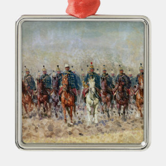 Swansong of the Hussars, 1931 Square Metal Christmas Ornament
