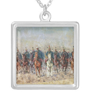 Swansong of the Hussars, 1931 Square Pendant Necklace