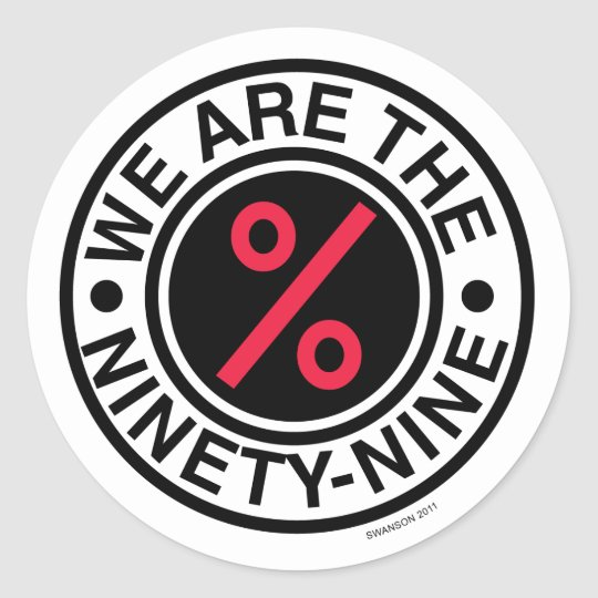 "SwansonWork ""We Are The 99"" Round Stickers"