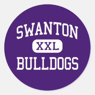 Swanton - dogos - High School secundaria - Swanton Etiqueta Redonda