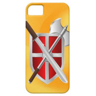 sward del hacha del escudo del asesino iPhone 5 funda
