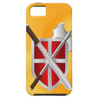 sward del hacha del escudo del asesino iPhone 5 fundas