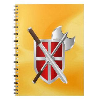 sward del hacha del escudo del asesino libreta