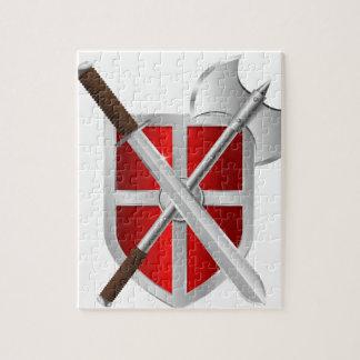 sward del hacha del escudo del asesino rompecabezas