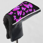 [ Thumbnail: Swarm of Artistic Butterflies Putter Cover ]