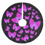 [ Thumbnail: Swarm of Artistic Butterflies Tree Skirt ]