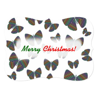 Swarm of Butterflies With Colorful Striped Wings Card