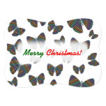 [ Thumbnail: Swarm of Butterflies With Colorful Striped Wings Invitation ]