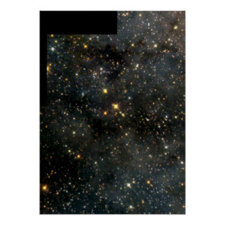 Swarm of Glittering Stars in the Large Magellanic Poster