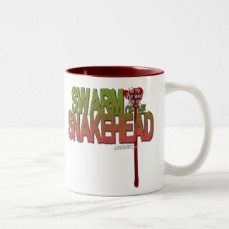 """Swarm of the Snakehead"" 2-Color Mug"