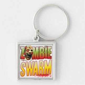 Swarm Zombie Head Keychains