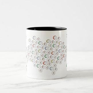 Swarming Swirls Two-Tone Coffee Mug