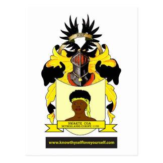 Swarte Coats of Arms Netherlands Europe Postcard