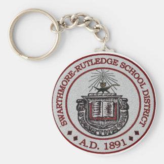 Swarthmore High School Logo Design 1 Basic Round Button Keychain