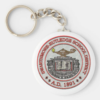 Swarthmore High School Logo Design 4 Basic Round Button Keychain