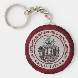 Swarthmore High School with Red Background Keychain