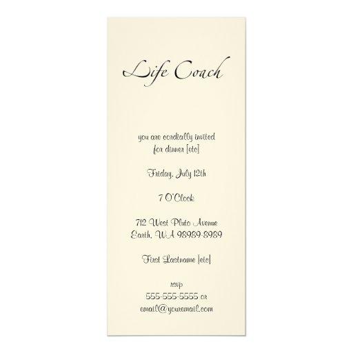 Swash del texto del coche de la vida invitación 10,1 x 23,5 cm