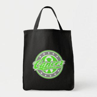 Swash Logo Non-Hodgkin's Lymphoma Survivor Grocery Tote Bag