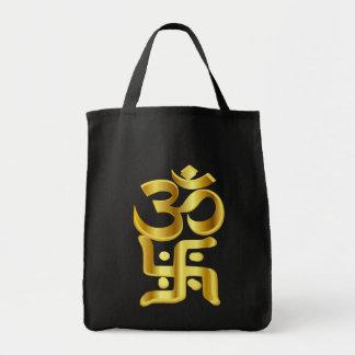 swastika ,卐,स्वस्तिक,OM,MANTRA,ॐ Tote Bag