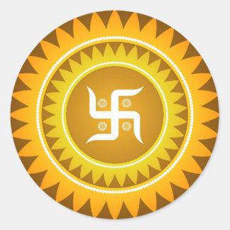 Swastika Classic Round Sticker