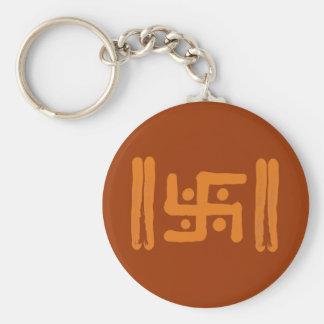 Swastika : Indian Religious Symbol Basic Round Button Keychain