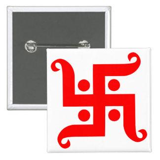 swastika pinback button