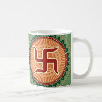 Swastika with Traditional Indian style Mandana Coffee Mug