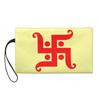 swastika wristlet purse