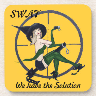 SWAT drink coaster