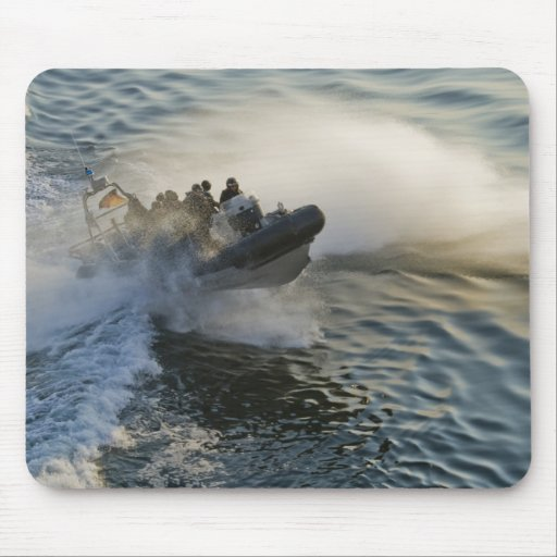 SWAT Inflatable Boat at Speed Hitting a Wake Mouse Pads