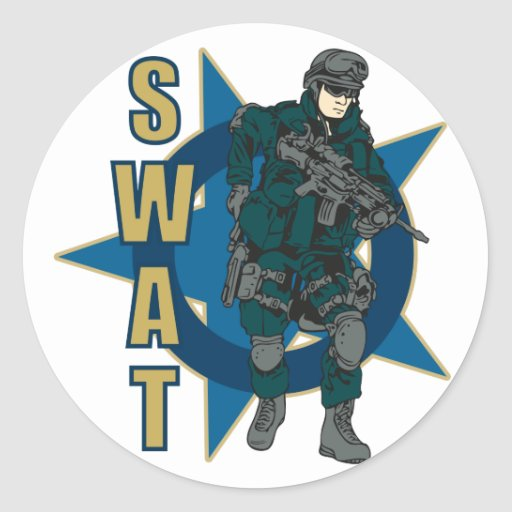 SWAT Officer Classic Round Sticker