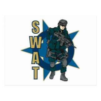SWAT Officer Postcard