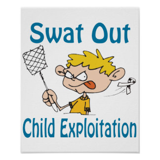 Swat Out Child-Exploitation Poster