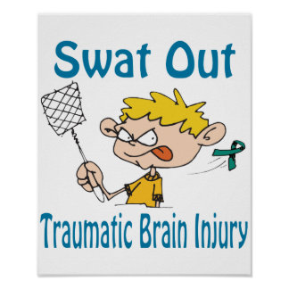 Swat Out Traumatic-Brain-Injury Poster