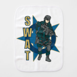 SWAT Police Officer Baby Burp Cloth