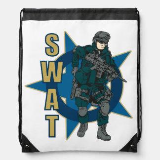 SWAT Police Officer Drawstring Backpack