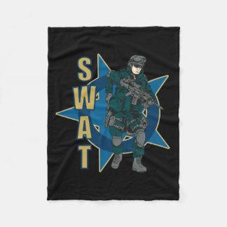 SWAT Police Officer Fleece Blanket