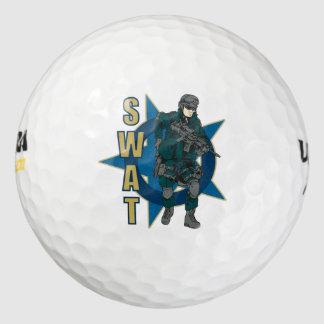 SWAT Police Officer Golf Balls