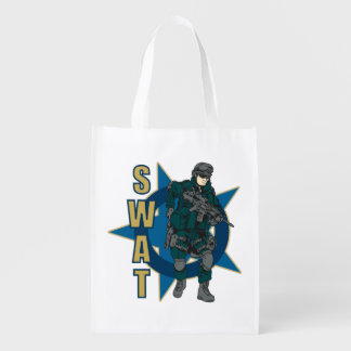 SWAT Police Officer Grocery Bags