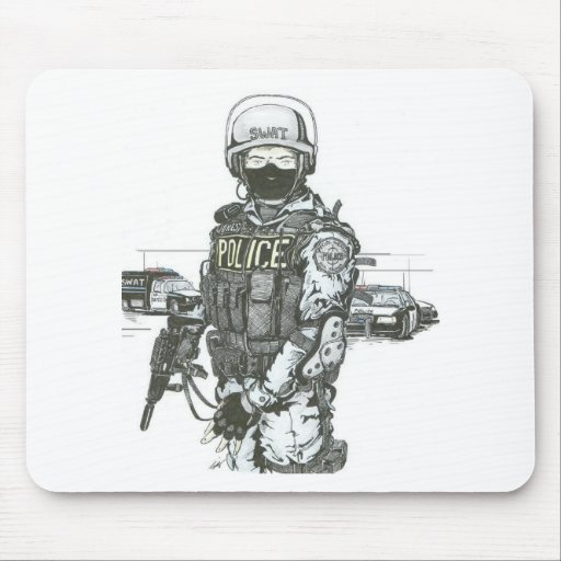 SWAT_Police_Officer Mouse Pad