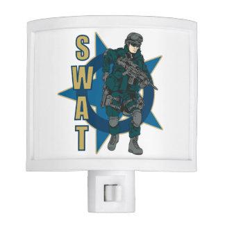SWAT Police Officer Night Light