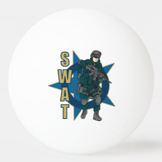 SWAT Police Officer Ping Pong Ball