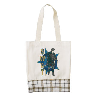 SWAT Police Officer Zazzle HEART Tote Bag