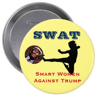 SWAT: Smart Women Against Trump Button