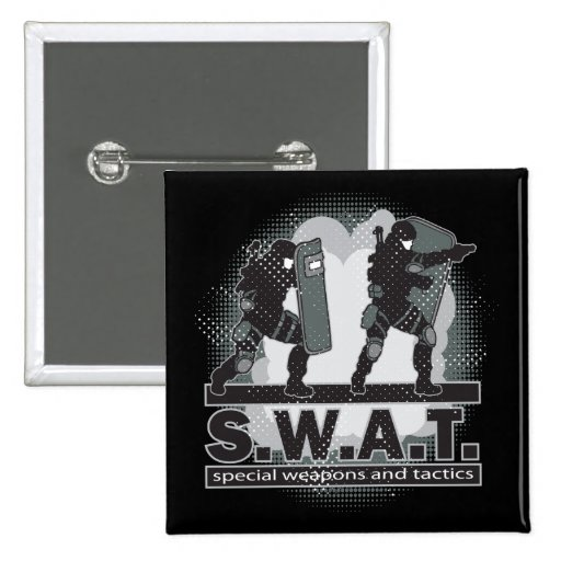SWAT Team Entrance 2 Inch Square Button