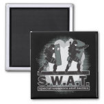 SWAT Team Entrance 2 Inch Square Magnet