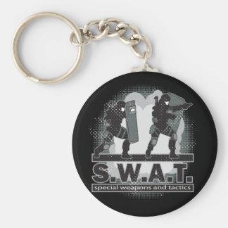 SWAT Team Entrance Basic Round Button Keychain