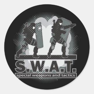 SWAT Team Entrance Classic Round Sticker