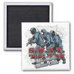 SWAT Team House Calls 2 Inch Square Magnet