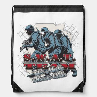 SWAT Team House Calls Drawstring Bag